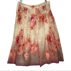 Coldwater Creek floral print midi skirt